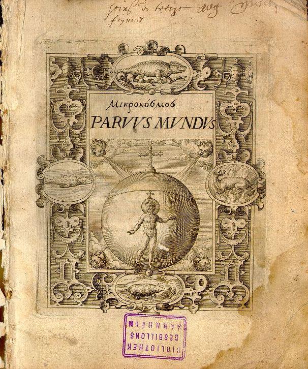 Mikrokosmos = Parvus mundus 1579 title page.jpg